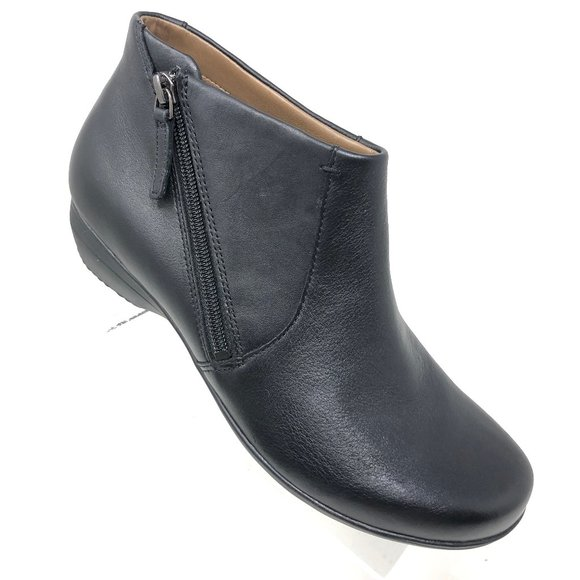 Fifi Bootie Black Nappa Ankle Boot Size